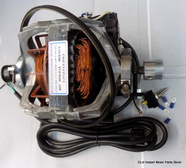 Berkel Slicer  919- Single Speed New Replacement Motor kit for Part 4975-00386 with new  Drive Belt
