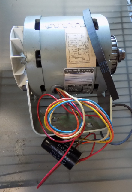 Hobart 8145-84145 Buffalo Chopper 294025-1 115/230 Volt 50/ 60hz Motor Used with new drive belts