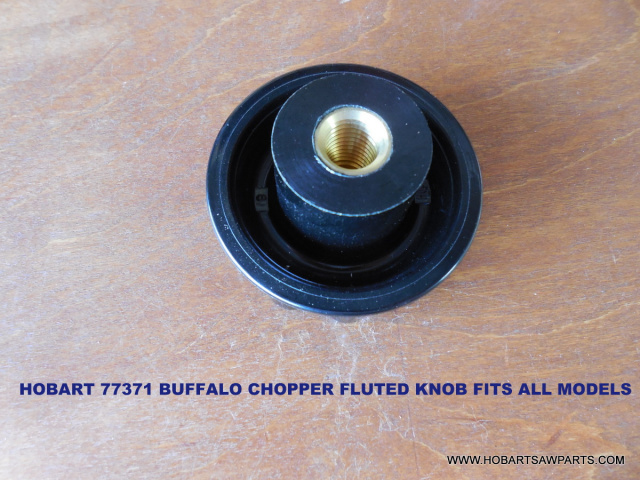 HOBART 77371 BUFFALO CHOPPER KNIFE SET LOCKING FLUTED KNOB FITS ALL MODELS except some of the older