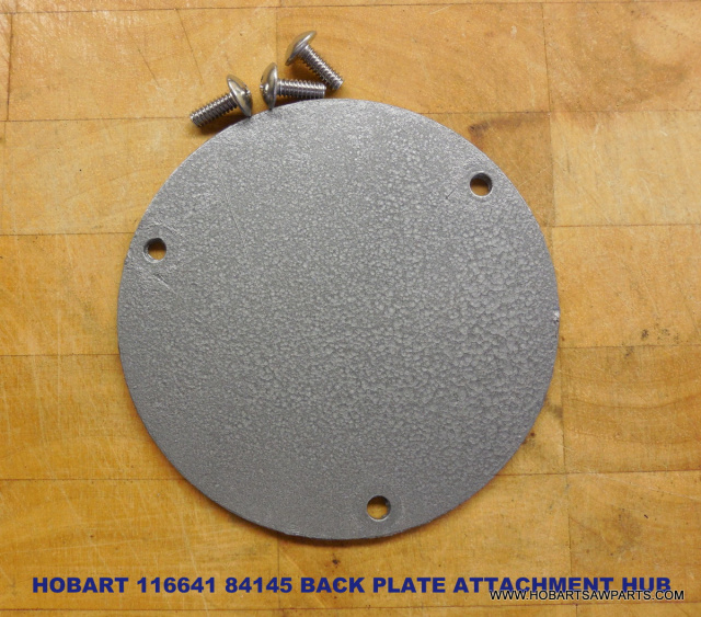Hobart-116641-84145 Buffalo-Chopper Attachment-Hub_Back-Plate