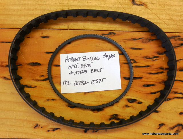 HOBART 8145-84145 TIMING AND V BELT REPLACEMENT KIT 116634 TIMING BELT-117503 V BELT For ML Numbers