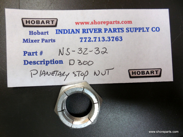 Hobart Mixer D-300 NS-32-32 Planetary Stop Nut Left hand Thread