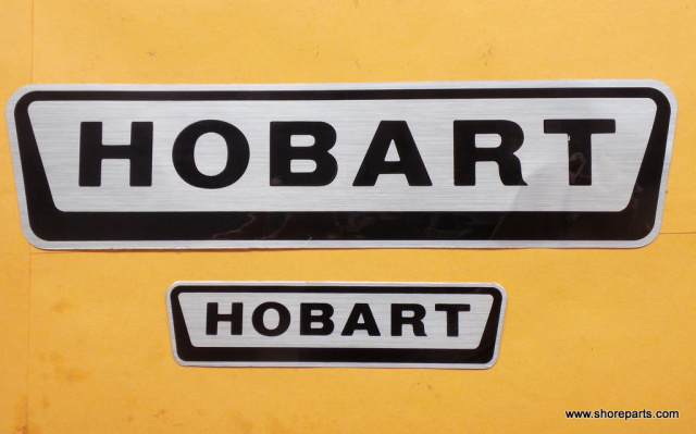 Hobart Model 1712-1712E-1912 Logos/Decals Both Side And Front New Models The Small Decal Goes on the