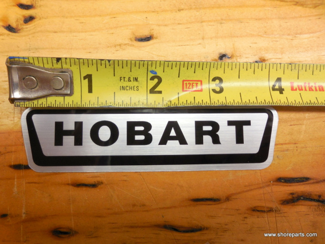 Hobart A120- A200 Decal / Logo 118363 4 Inches