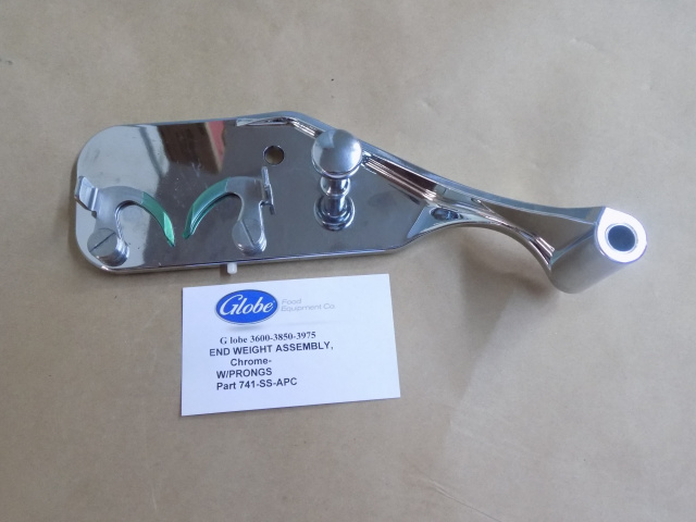 Globe Slicer Chrome Plated End Weight w/Stainless Steel Prongs  For 3600-3850-3975 Series Models