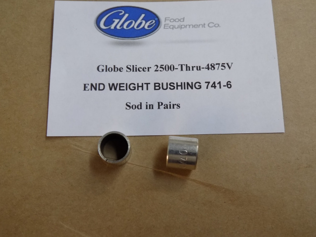 Globe Slicer End Weight Bushings 741-6  For Models 2500- 4875V