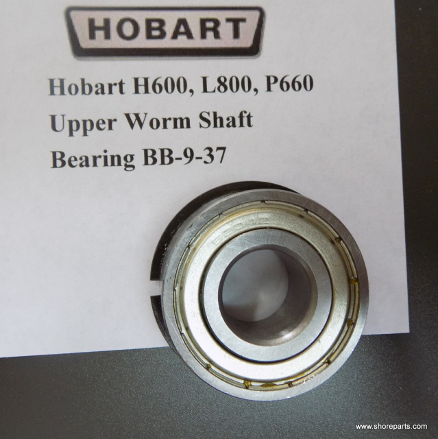 Hobart H600, L800, P660 Upper Worm Shaft Bearing BB-9-37