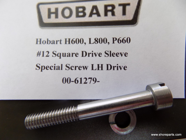 Hobart H600, P660, L800 Mixer 00-61279 Square Drive Special Screw