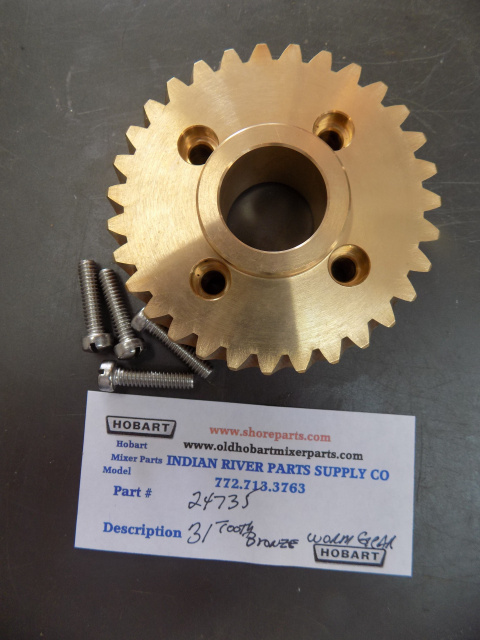 Hobart H600-60 HZ L800- 50 HZ Mixer 31 Tooth Bronze Worm Gear 00-024735