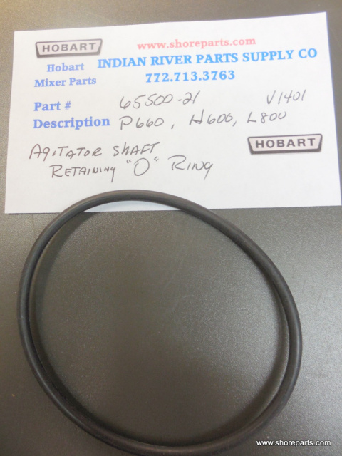 "Hobart Mixer P660, H600, L800m M802, Agitator Shaft ""O"" Ring Part 67500-21"