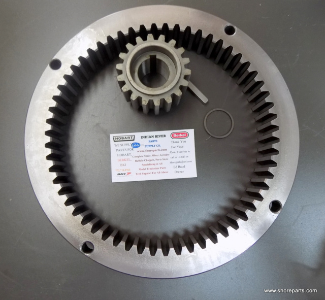 Hobart H600-L800 59 Tooth Internal Gear Number 00-437692, 18 Tooth pinion Gear 00-012430-00154, Key