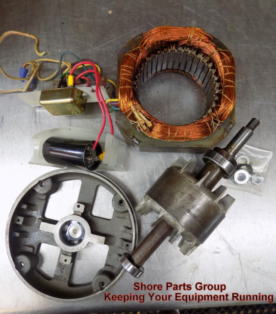 Hobart Slicer Motor Stator D-65477-150-1 Replaced by 271639 Rotor C-22275-251 Replaced by 174761 for