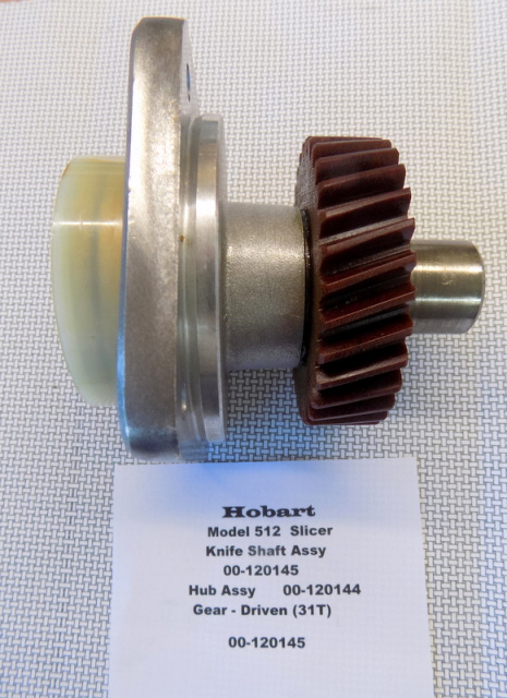 Hobart Model 512 Slicer  Gear 31 Tooth  00-120145 00-120144  Hub Assy. Knife Shaft Assy.  00-120145