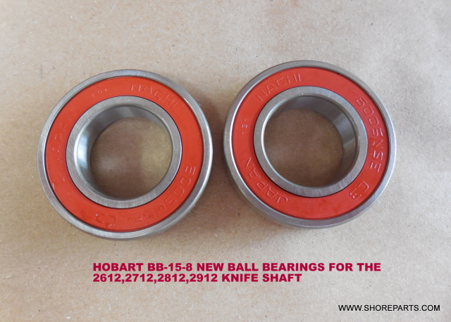 HOBART BB-15-8 2612,2712,2812,2912 KNIFE SHAFT BALL BEARINGS
