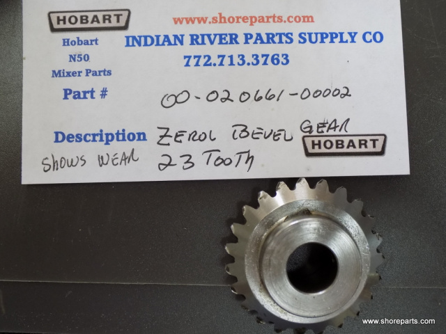 Hobart N50 Mixer 00-020661-00002 Gear - Zerol Bevel (23T) Used Shows Wear