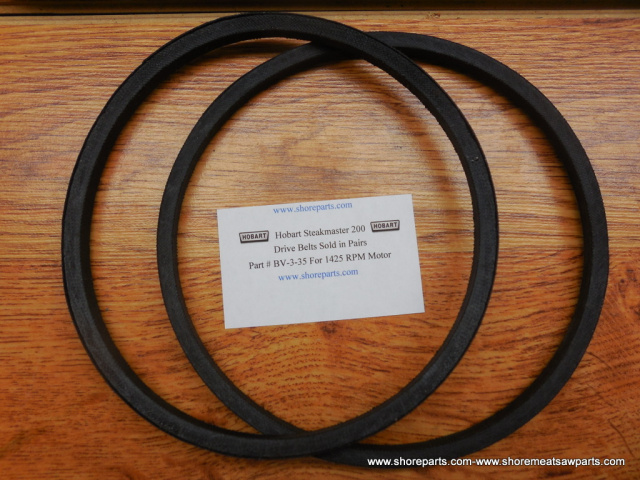 Hobart Steakmaster Model 200 Drive Belt Part BV-3-35 For 1425 RPM Motor Sold In Pairs