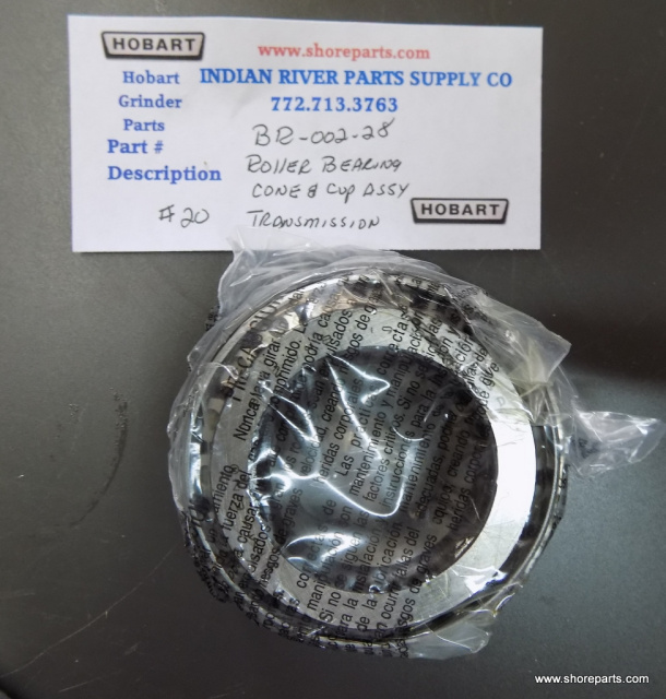 Hobart MG1532-MG2032 Mixer Grinder BR-002-28 Transmission Unit Roller Bearing Cone & Cup Assy part #
