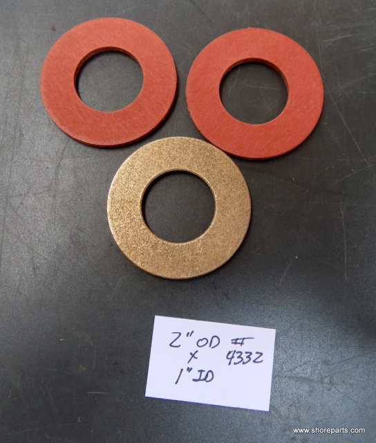 Hobart 4442 Fiber Thrust Washer V-4225-2, Brass Cylinder Washer V-19813