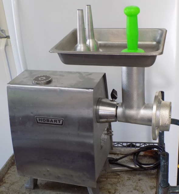 Hobart PD-35 Meat Grinder Power Head w/ New Meat Grinder Attachment New Meat Grinder Attachment with