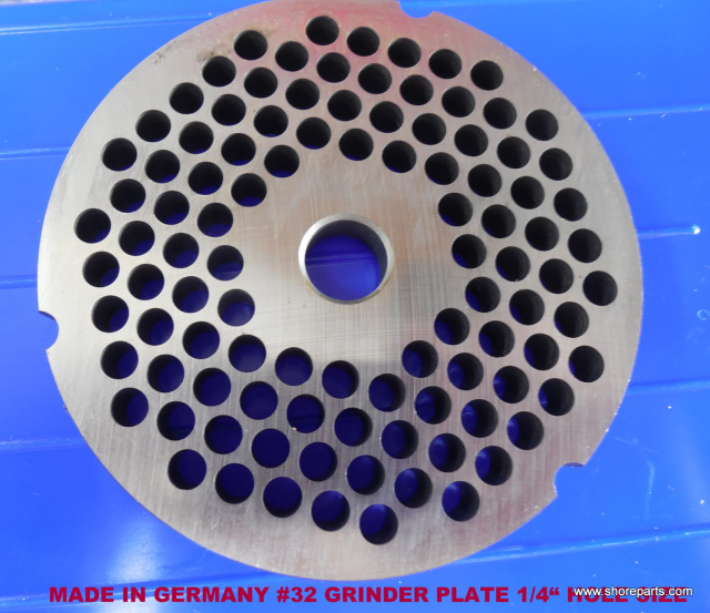 "GERMAN MADE HI CARBON LONG WEARING #32 1/4"" REVERSIBLE GRINDER PLATE"