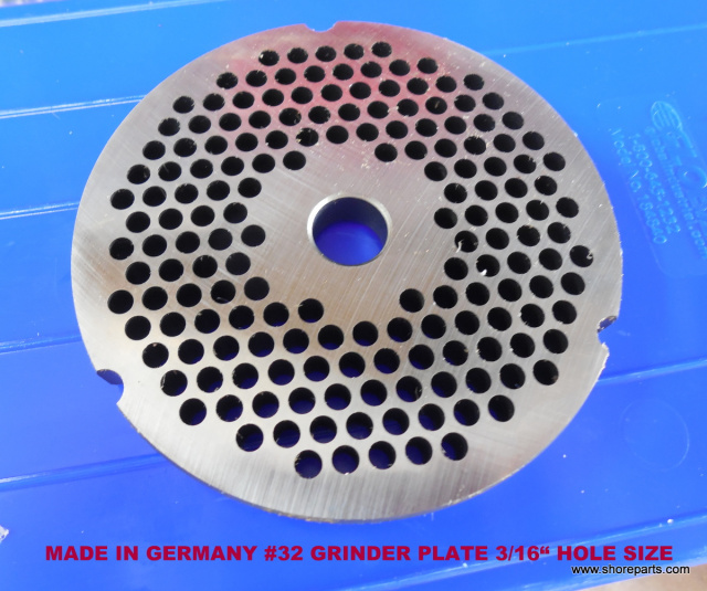 "GERMAN MADE HI CARBON LONG WEARING #32 3/16"" REVERSIBLE GRINDER PLATE"