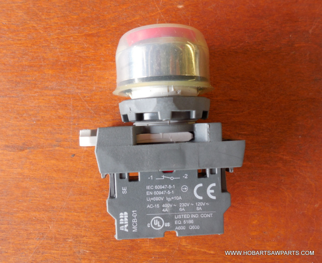 HOBART, 00-478752-8, RED SWITCH, FOR MEAT GRINDERS, MG1532, MG2032, INCLUDES RED SWITCH, SWITCH CAP,