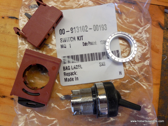 HOBART SWITCH KIT, FOR MODELS 4346, 4352 NEW # 00-913102-00193 OLD # 00-087711-255-4 ON/OFF SWITCH F