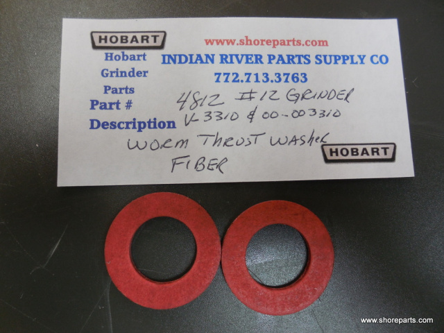 "Hobart 4812 # 12 Meat Grinder V-3310-00-3310 Worm Fiber Thrust Washer 1-5/16"" OD X 3/4"" ID Sold in P"