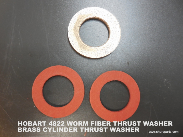 "Hobart Model 4822 1"" ID X 1-5/8"" OD Fiber Worm Thrust Washer 00-004221,  1"" ID X 1-3/4"" OD Brass Cyl"