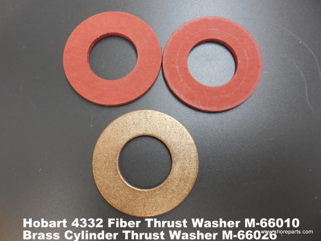 Hobart Meat Grinder 4332 Fiber Thrust Washer Part M66010 Brass Cylinder Washer M-66026